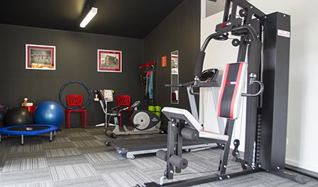 The guest gym